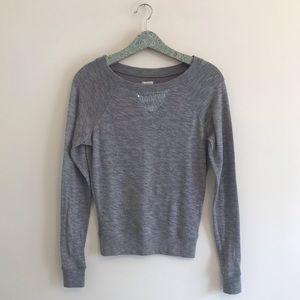 Aerie | Gray Sequin Trim Sweatshirt